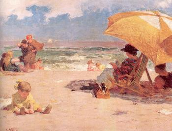 Edward Henry Potthast : At the Seaside