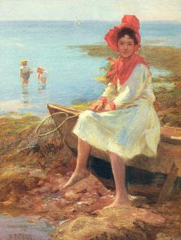 Edward Henry Potthast : The Red Bonnet