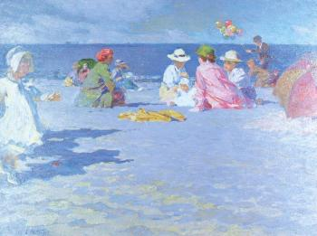 Edward Henry Potthast : The Balloon Vendor