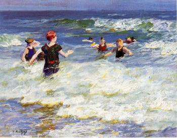 Edward Henry Potthast : In the Surf II