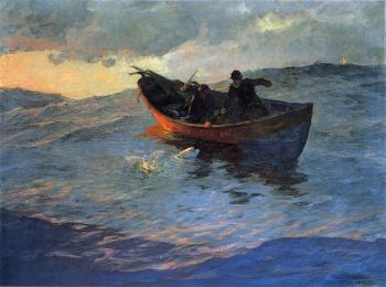 Edward Henry Potthast : Struggle for the Catch