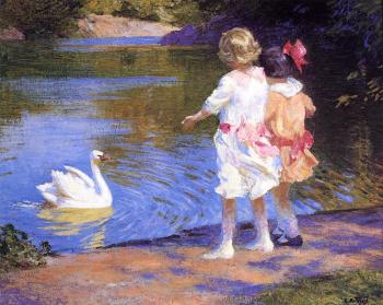Edward Henry Potthast : The Swan