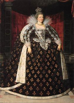 Frans The Younger Pourbus : Marie de Medicis, Queen of France