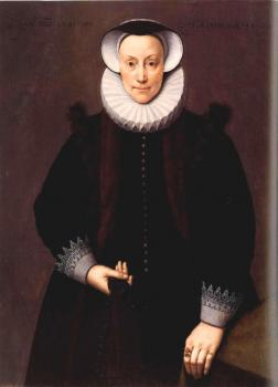 Frans The Younger Pourbus : Portrait of a Woman Aged 54