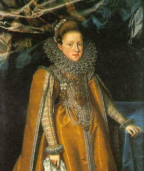 Frans The Younger Pourbus : Portrait of Maria Magdalena of Austria