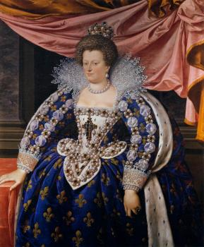 Frans The Younger Pourbus : Portrait of Marie de Medicis