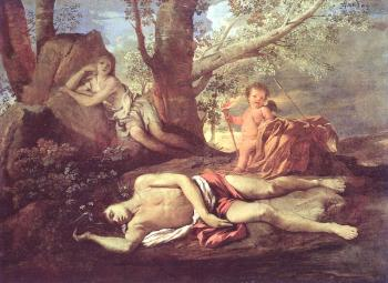 Nicolas Poussin : Echo and Narcissus
