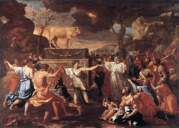 Nicolas Poussin : The Adoration of the Golden Calf, approx