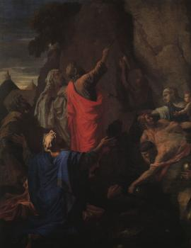 Nicolas Poussin : Moses Bringing Forth Water from the Rock