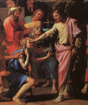 Nicolas Poussin : Jesus Healing the Blind of Jericho