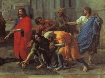 Nicolas Poussin : Christ and the Woman Taken in Adultery