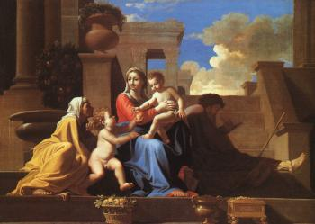 Nicolas Poussin : Holy Family on the Steps