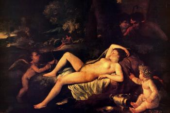 Sleeping Venus and Cupid