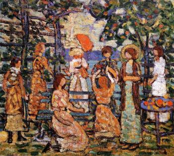 Ladies in a Seaside Arbor
