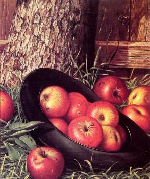 Levi Wells Prentice : Still Life of Apples in a Hat