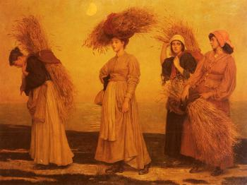 Valentine Cameron Prinsep : Home From Gleaning