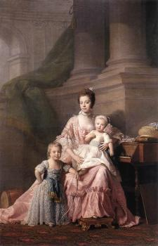 Allan Ramsay : Queen Charlotte with her Two Children