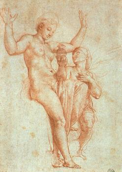 Raphael : Psyche presenting Venus with water from the Styx