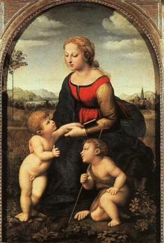 Raphael : The Virgin and Child with Saint John the Baptist