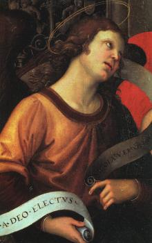 Raphael : Angel, fragment of the Baronci Altarpiece