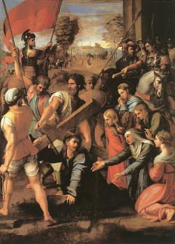 Raphael : Christ Falls on the Way to Calvary