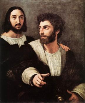 Raphael : Double Portrait with The Artist