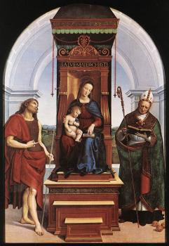 Raphael : Madonna and Child, The Ansidei Altarpiece