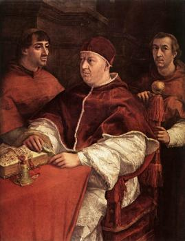 Raphael : Pope Leo X with Cardinals