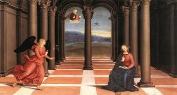 Raphael : The Annunciation, Oddi altar, predella