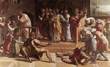 Raphael : The Death of Ananias