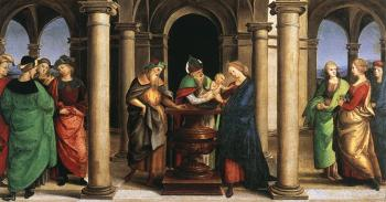 Raphael : The Presentation in the Temple, Oddi altar, predella