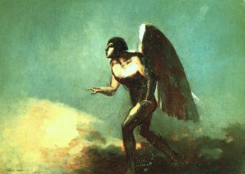 Odilon Redon : The Winged Man (The Fallen Angel)
