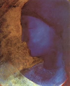 Odilon Redon : The Golden Cell (The Blue Profile),