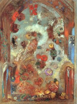 Odilon Redon : Stained Glass Window (Allegory)