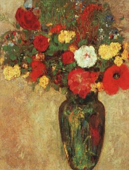 Odilon Redon : Vase With Flowers