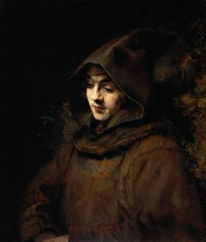 Rembrandt's son Titus, as a monk