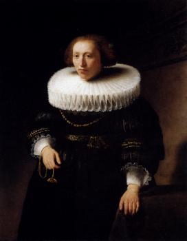 Rembrandt : Portrait of a woman
