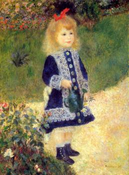 Pierre Auguste Renoir : A Girl with a Watering Can