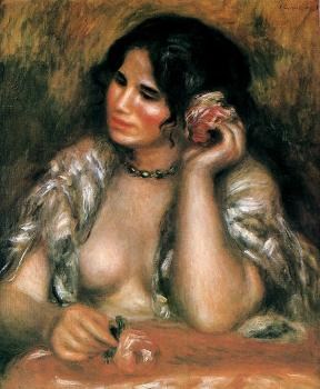Pierre Auguste Renoir : Gabrielle with a Rose