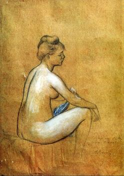 Seated Woman Bathing