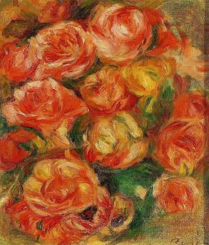 Pierre Auguste Renoir : A Bowlful of Roses