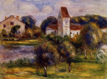 Breton Landscape, Church and Orchard