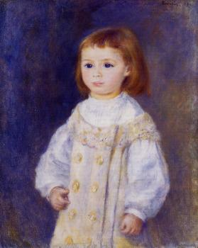 Pierre Auguste Renoir : Child in a White Dress, Lucie Berard