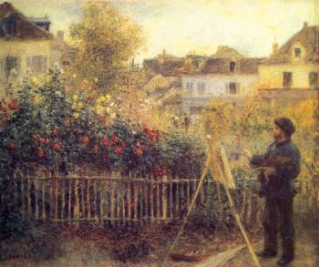 Claude Monet Painting in his Garden at Arenteuil