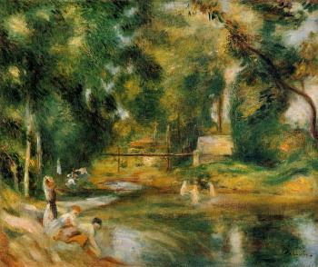 Essoyes Landscape, Washerwomen and Bathers