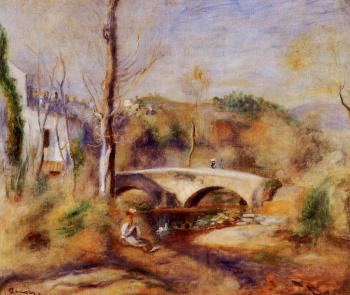 Pierre Auguste Renoir : Landscape with Bridge