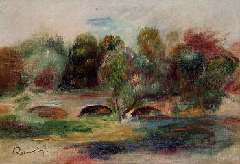 Pierre Auguste Renoir : Landscape with Bridge II