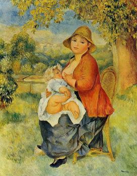 Motherhood, Woman Breast Feeding Her Child