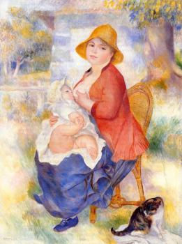 Motherhood, Woman Breast Feeding Her Child II