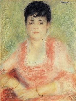Pierre Auguste Renoir : Portrait in a Pink Dress